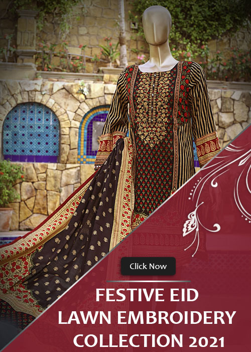 Festive Eid Lawn Embroidery Stitched Collection 2021