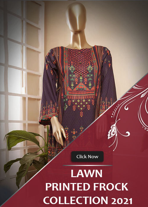 1 Piece Lawn Printed Frock Style Collection 2021 Vol-1