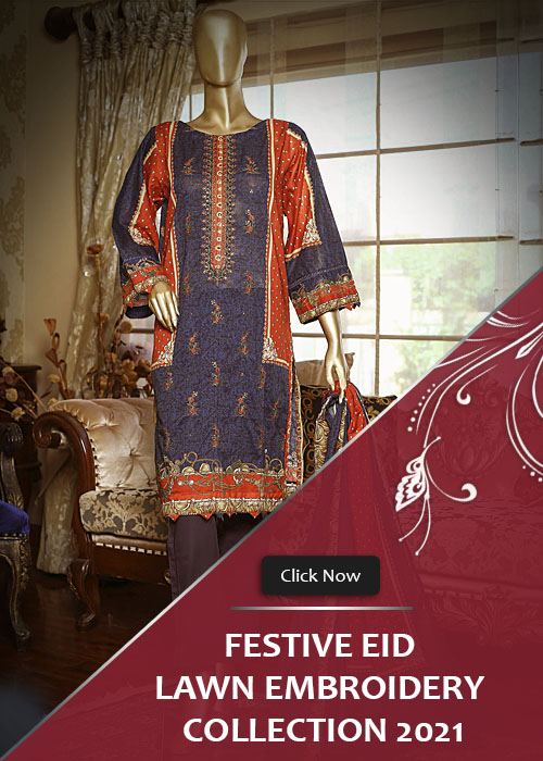 Festive Eid Lawn Embroidery Stitched Collection 2021 Vol-2