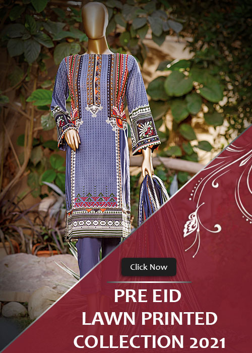 Pre Eid Lawn Printed Stitched Collection 2021