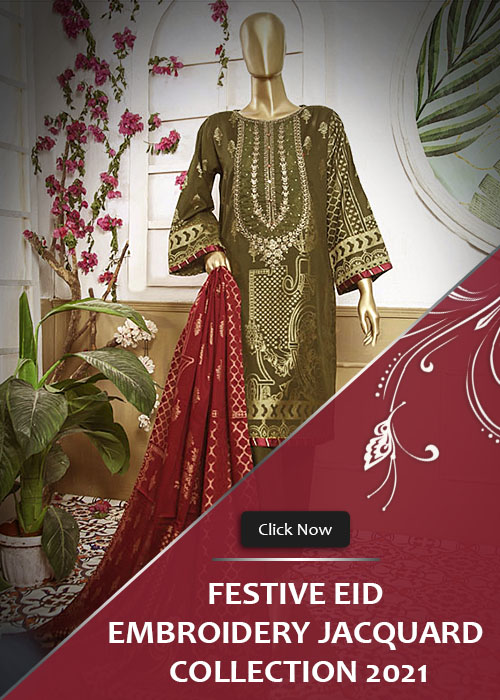 Festive Eid Embroidery Jacquard Collection 2021