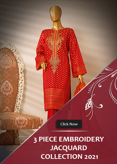 3 Piece Embroidery Jacquard Collection 2021