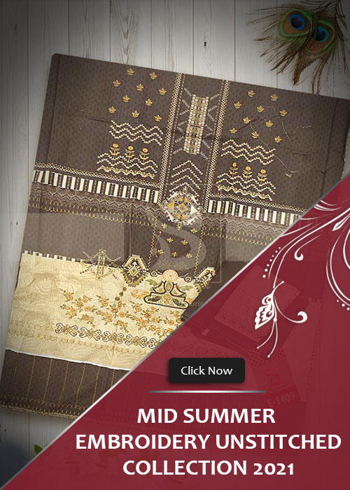 Mid Summer Embroidery UnStitched Collection 2021