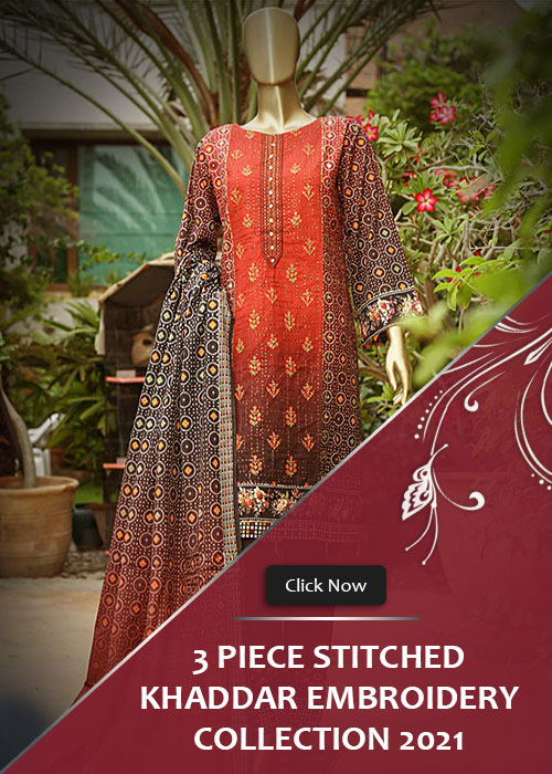 Khaddar Embroidery Collection 2021 Vol-1